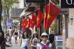 Vietnamese vlaggen Stock Afbeeldingen