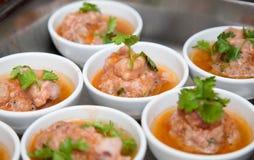 Vietnamese vleesballetjes stock afbeelding
