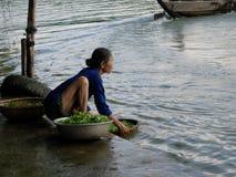 Vietnamese Vrouw Stock Foto