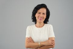 Vietnamese vrouw op middelbare leeftijd Stock Afbeelding