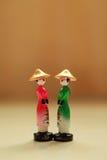 Vietnamese vrouwenpoppen Royalty-vrije Stock Foto