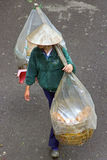 Vietnamese walking bread trade Royalty Free Stock Photo