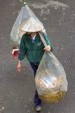 Vietnamese walking bread trade Royalty Free Stock Photo
