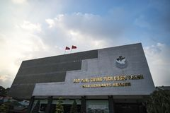 Vietnamese War Remnants Museum, museum keep history evidence of war time for Saigon. January 24, 2019. Ho Chi Minh city, Vietnam. Vietnamese War Remnants Museum stock images