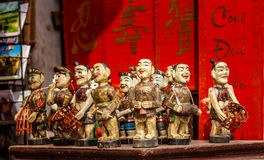 Vietnamese Water Puppets. At Hanoi, Vietnam stock images