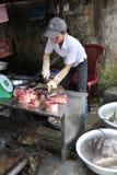 Vietnamese werkende vrouw Royalty-vrije Stock Foto