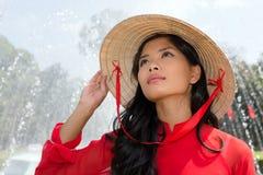 Vietnamese woman portrait Royalty Free Stock Photography