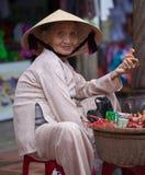 Vietnamese woman says hello Stock Photos