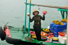 Vietnamese woman selling fruit Stock Photography