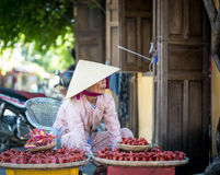 Vietnamese woman selling souvenirs in Hoi An Royalty Free Stock Image