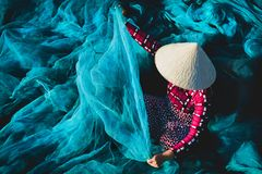 The fishing net royalty free stock photo
