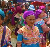 Vietnamese women. Market vietnam mountains where ethnic groups come together Royalty Free Stock Photography