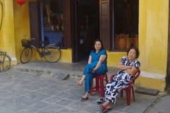 Vietnamese older women Stock Photo