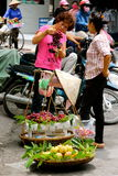 Vietnamese women street vendors  Hanoi Stock Photo
