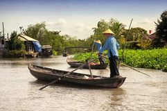 Mekong river delta south vietnamese woman Royalty Free Stock Photography