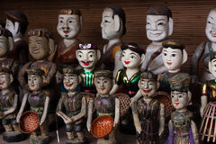 Vietnamese wter puppets Stock Photo