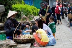 Vietnamesen marknadsför Arkivbild