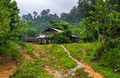 Vietnamesische Bauernhof-Hütte lizenzfreie stockbilder
