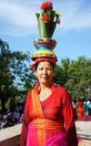 Vietnamesische Frau, Trachtenkleid Lizenzfreie Stockfotos