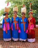 Vietnamesische Frau, Trachtenkleid Stockfotos