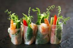 Vietnamesische Reispapierrollen Stockfoto