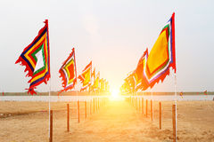 Vietnamesische traditionelle Flagge Stockfotos