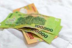 Vietnamesische Währung Dong-Banknoten Stockfotos
