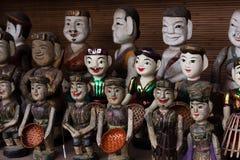 Vietnamesische wter Marionetten stockfoto
