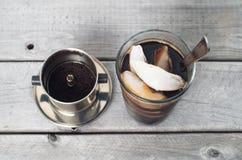Vietnamesischer gefrorener Kaffee Stockfoto