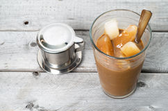 Vietnamesischer gefrorener Kaffee Lizenzfreie Stockfotos