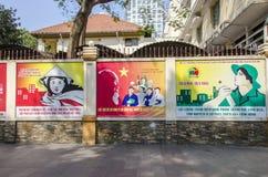 Vietnamesischer Kommunismusposter Stockbilder