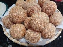 Vietnamesischer Kuchen des indischen Sesams der gelben Bohne stockfotografie