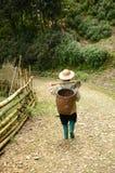Vietnamesischer Landarbeiter der Minderheit Stockfotos