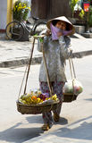 Vietnamesischer Straßenverkäufer Stockbild