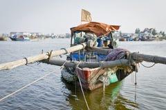 Vietnamesisches Fischerboot Lizenzfreies Stockfoto