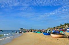 Vietnamesisches Fischerdorf Stockfoto