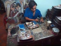 Vietnamesisches Lacquerware Lizenzfreies Stockbild