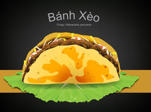 Vietnamesisches Lebensmittel bahn xeo Stockbild