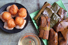 Vietnamesisches Lebensmittel, banh nam, banh Botstandort Stockfotos