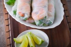 Vietnamesisches Reis-Papier Rolls Stockfotografie