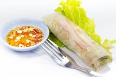 Vietnamesisches Reispapier rollt mit Garnelen Lizenzfreie Stockfotos