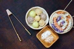 Vietnamesisches Straßenlebensmittel, süßer Kuchen Lizenzfreies Stockfoto