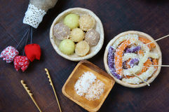 Vietnamesisches Straßenlebensmittel, süßer Kuchen Stockbild