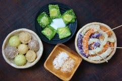 Vietnamesisches Straßenlebensmittel, süßer Kuchen Stockfotos