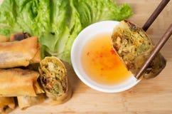 Vietnamesisches vegeratian Frühlingsrollen lizenzfreies stockfoto
