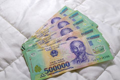 Vietnamesisk Dong för pengar 500.000 sedel Royaltyfria Bilder