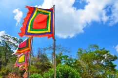 Vietnamesisk festivalflagga Arkivfoto