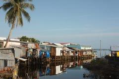 Vietnamesisk fishermanshamnplats fotografering för bildbyråer
