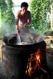Vietnamesisk folkprocessmussla Royaltyfri Bild