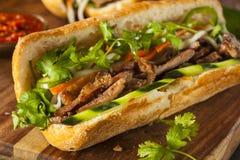 Vietnamesisk grisköttBanh Mi smörgås arkivfoto